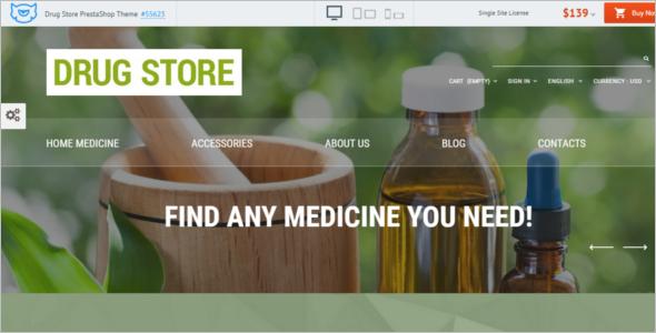 Online Drug Store PrestaShop Theme