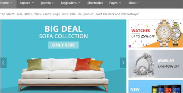 Online Furniture StoreVirtueMart Theme