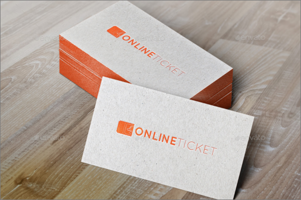 Online Ticket Mockup Design