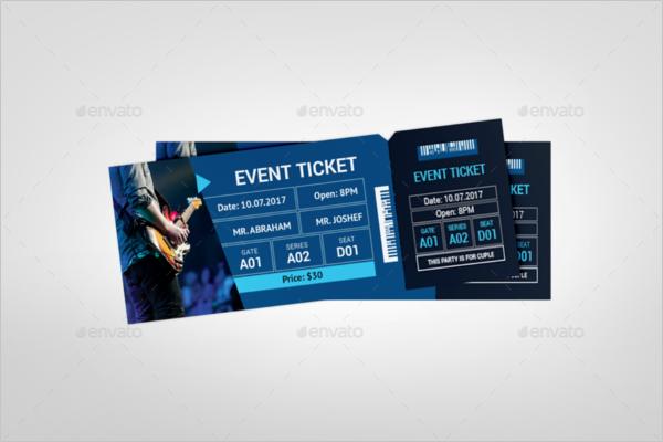 Online Ticket Template