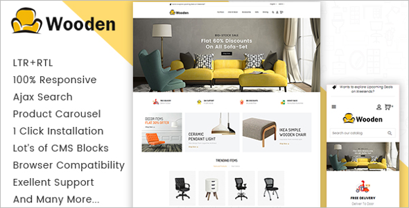 Online Wood Furniture Prestashop Theme