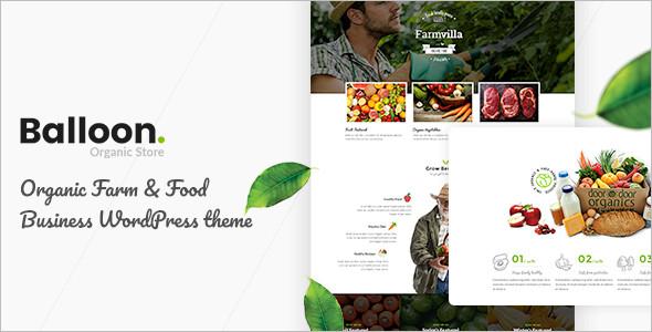 Organic Farm Shop WordPress Theme