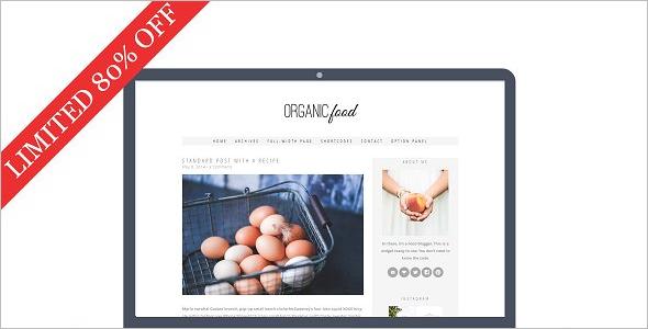 Organic Food WordPress Theme