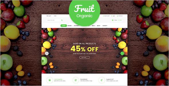 Organic Fruits WordPress Theme