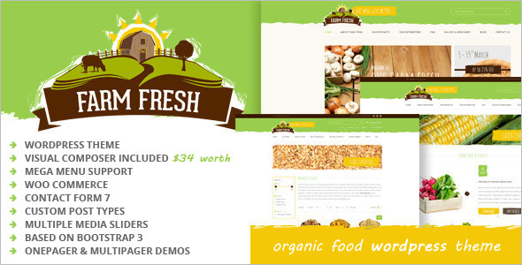 Organic Products WordPress Theme