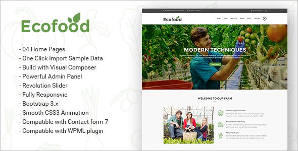 Organic Store & Farm WordPress Theme