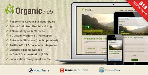 Organic Web WordPress Template