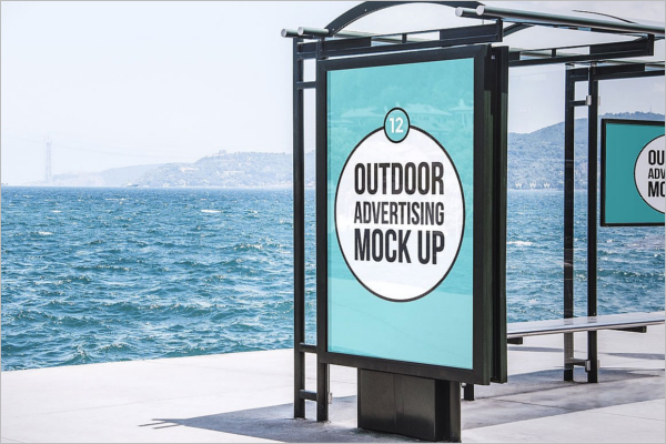 Outdoor Advertising MockUp PSD