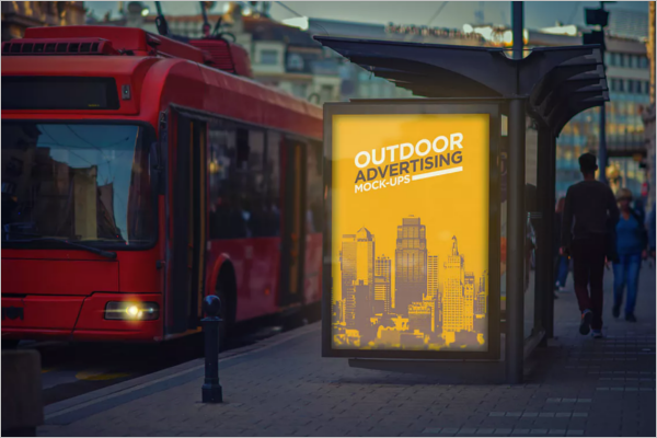Outdoor Advertising Poster Design