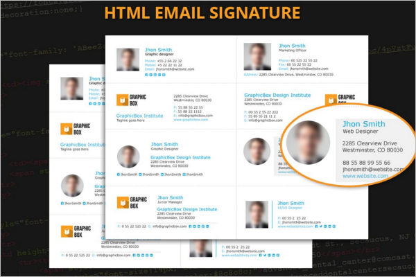 PSD Email Signature HTML  Format
