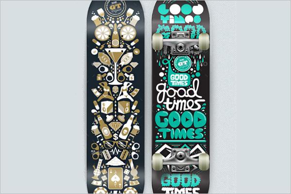 PSDSkateboard Mockup Design
