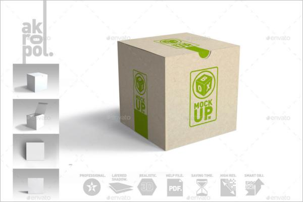 Packaged Box Mockup Design