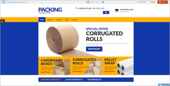 Packing Business VirtueMart Template