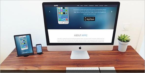 Parallax Mobile Landing Page Theme