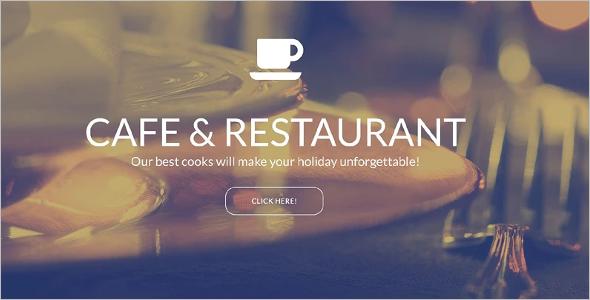 Parallax Restaurant Landing Page Theme