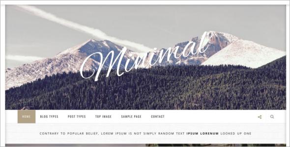 Parallax WordPress Theme