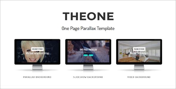 Parallax landingPage WordPress Template