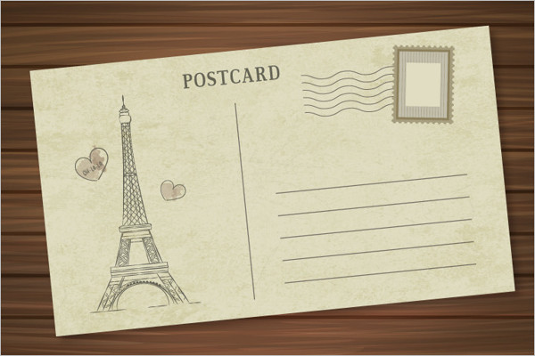 Paris Travel Postcard Template