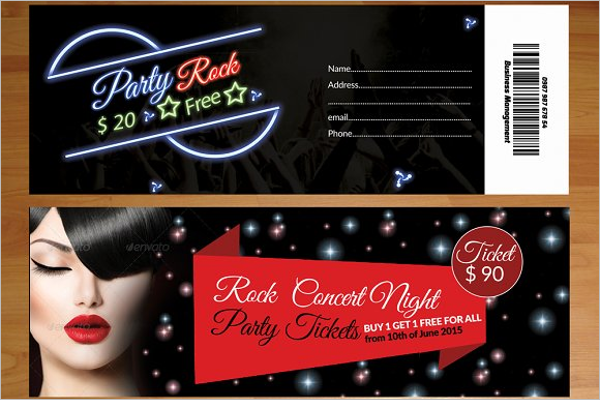 Party Event Mockup Design