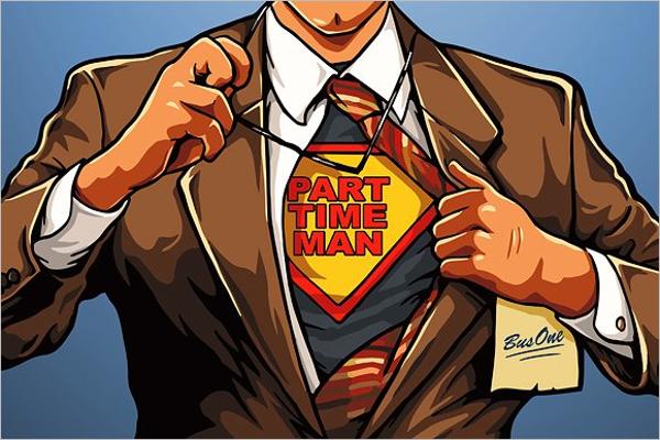 Party Time Superhero Cartoon Template