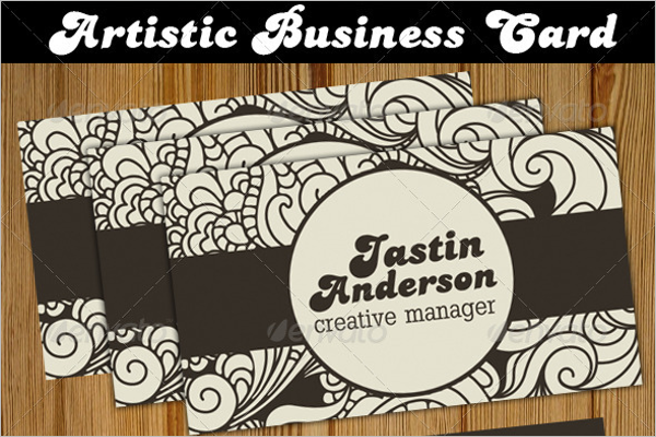 Personal Artistic Business Card Template