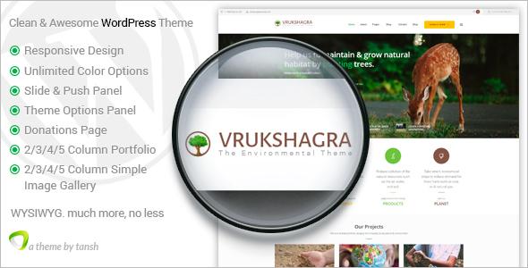 Personal Environmental WordPress Theme