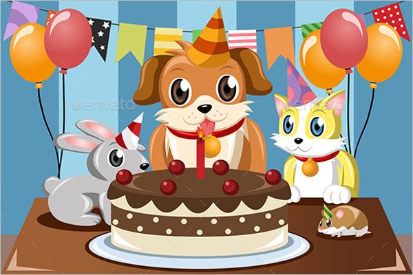 Pets Birthday Party Design