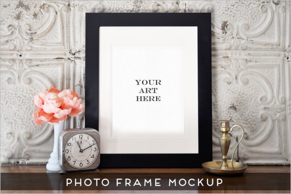 Photo Display Frame Art Mockup