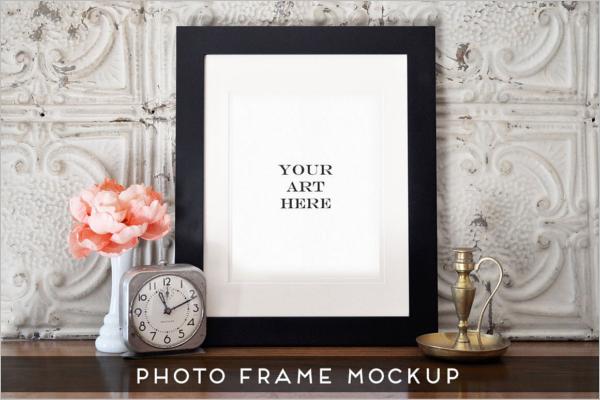 Photo Display Frame Art Mockup