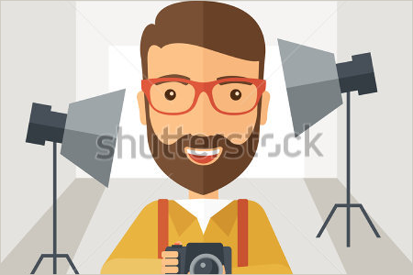 Photographer Cartoon Photo Template