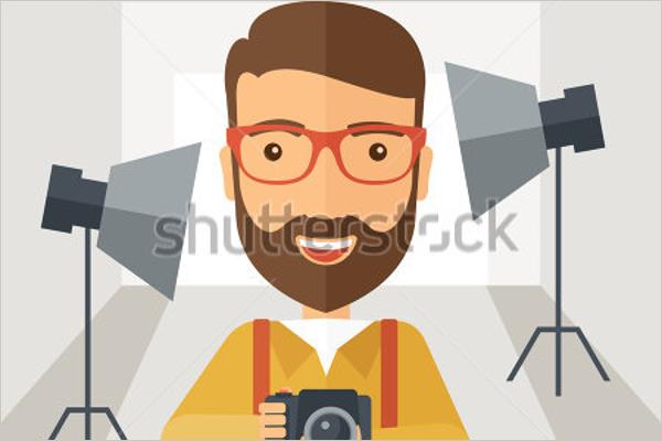 Photographer Cartoon Photo Template