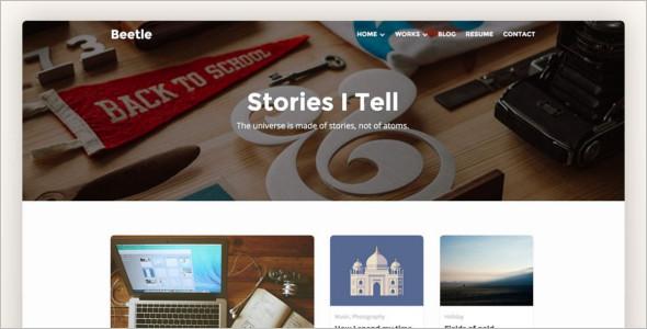 Photography Landing Page WordPress Theme