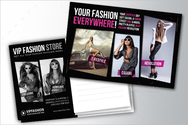 Photoshop Fashion Postcard Design