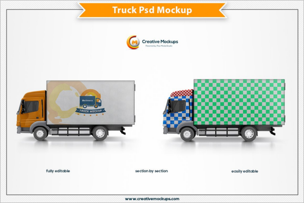 Photoshop Truck Mockup Template