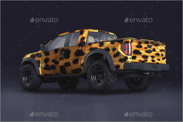 Pickup Truck Mockup PSD Template