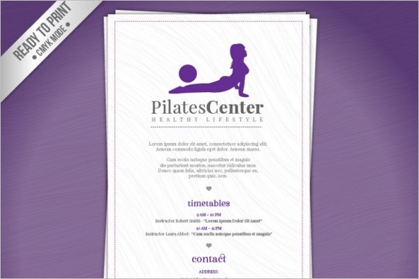Pilates GYM Brochure