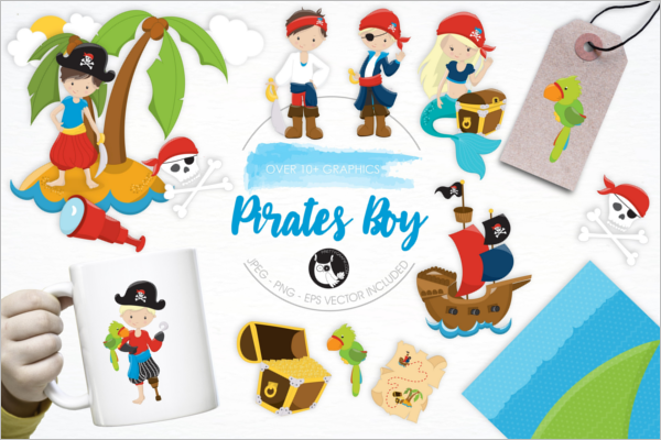 Pirate Boy Vector Design