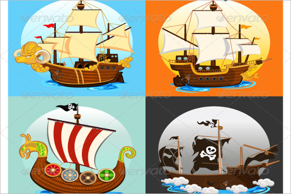 Pirate Ship Collection Set Design