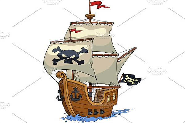 Pirate Ship Vector Design