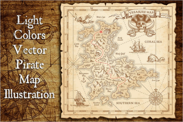 Pirate Treasure Map Design