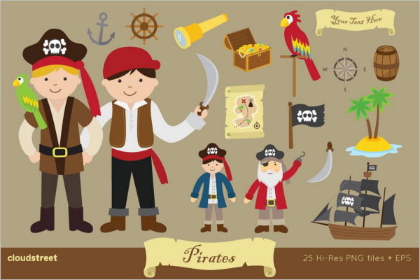 Pirates Clip Art Vector Design