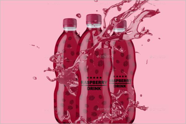 Plastic Bottle Mockup Design