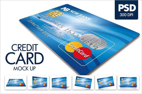 Plastic Credit Card Mockup Design