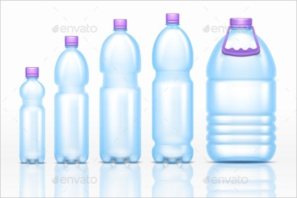 Plastic Drink Bottles Mockup