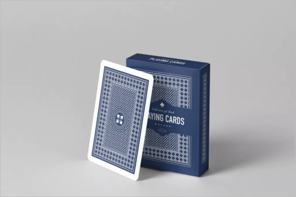 Poker Card Playing Mock up