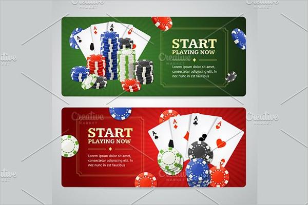 Poker Casino Banner Design