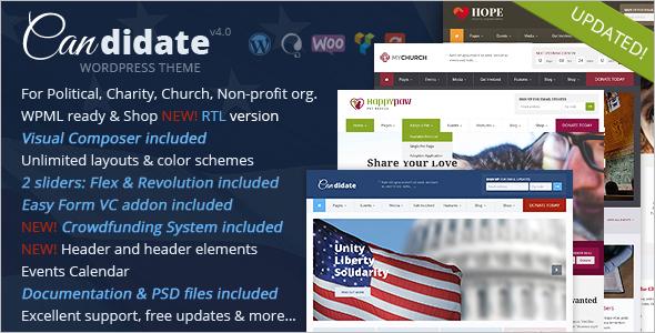 Political Church WordPress Template