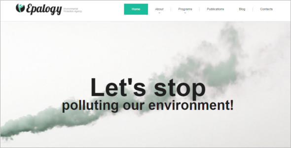 Pollution Environmental WordPress Theme