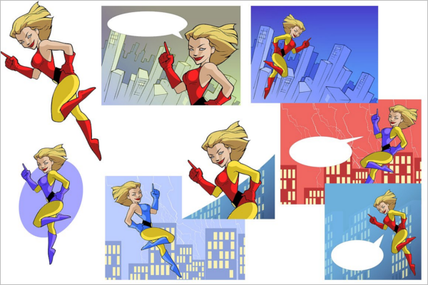 Powerful Superhero Cartoon Template