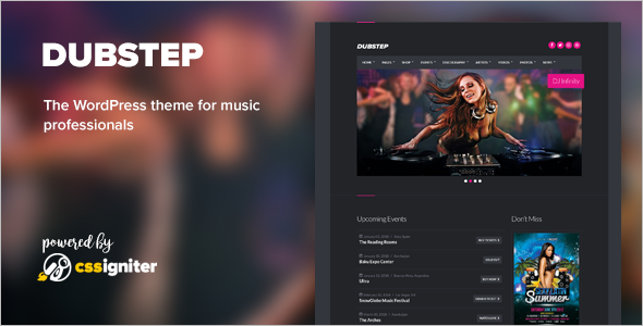 Premium Entertainment WordPress Template
